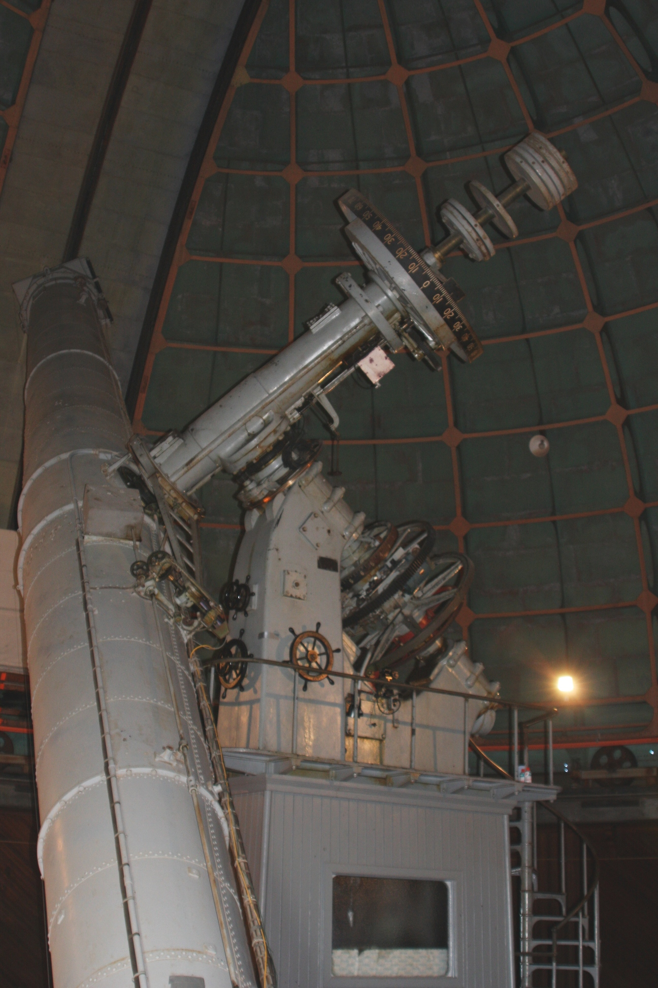 Lick 36 Inch Telescope Manual Pointing Limits